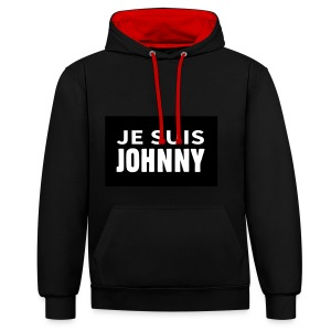 Je suis Johnny - Sweat-shirt contraste