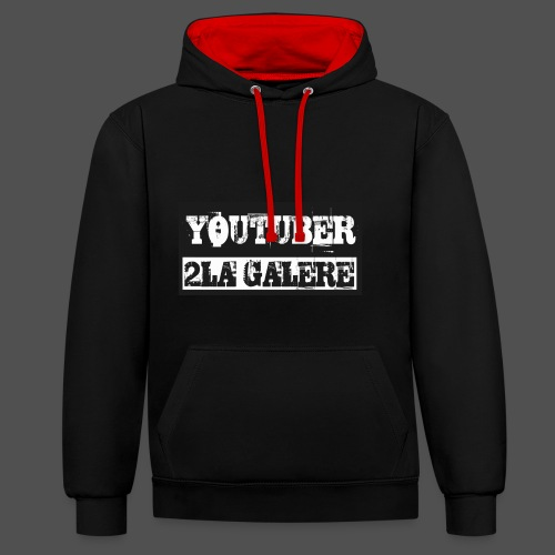 youtuber2lagalère - Sweat-shirt contraste