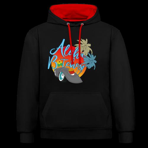 Aloha B*tches - Kontrast-Hoodie