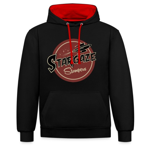 T Shirt Farbe Stargaze Stompers - Kontrast-Hoodie