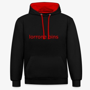 lorrone bins simple - Contrast Colour Hoodie