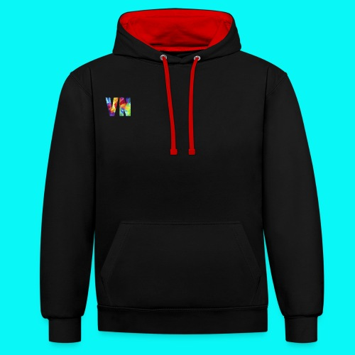 Velocity Networks Coloured Logo! - Contrast Colour Hoodie