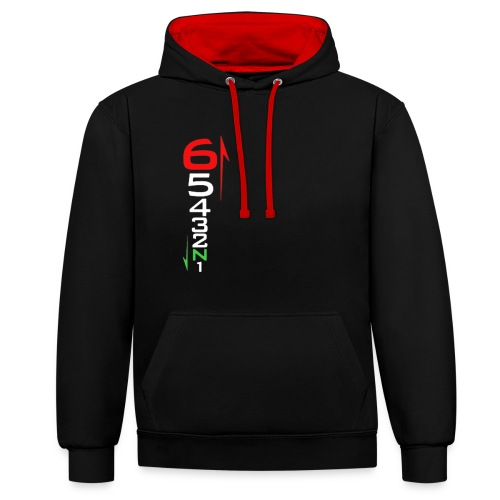 1 Down 5 Up - Contrast Colour Hoodie