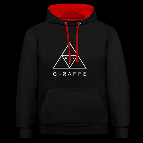 G-RAFFE white triangle - Kontrast-Hoodie