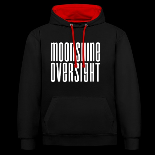 Moonshine Oversight blanc - Sweat-shirt contraste