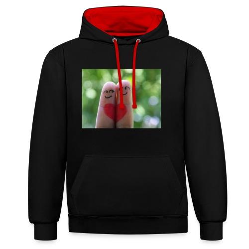 love - Contrast hoodie