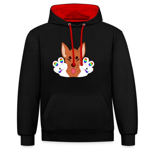 Magic's Gay Peace Fingers - Contrast Colour Hoodie