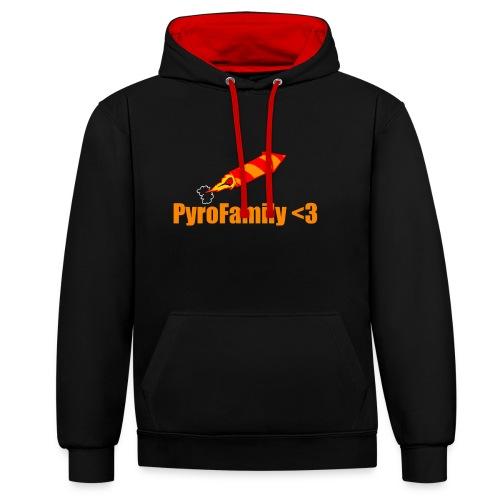 PyroFamily<3 - Kontrast-Hoodie
