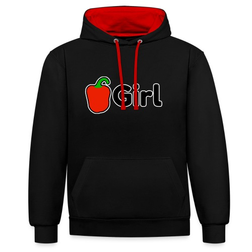 Paprika Girl logo - Contrast hoodie