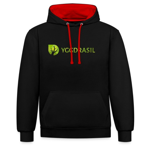 Yggdrasil Geocoder - Kontrast-Hoodie