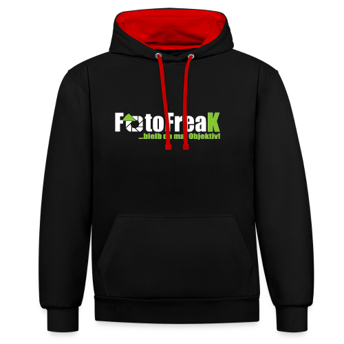 FotoFreax - Kontrast-Hoodie