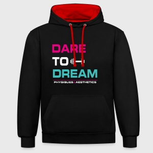 DARE TO DREAM - Sudadera con capucha en contraste