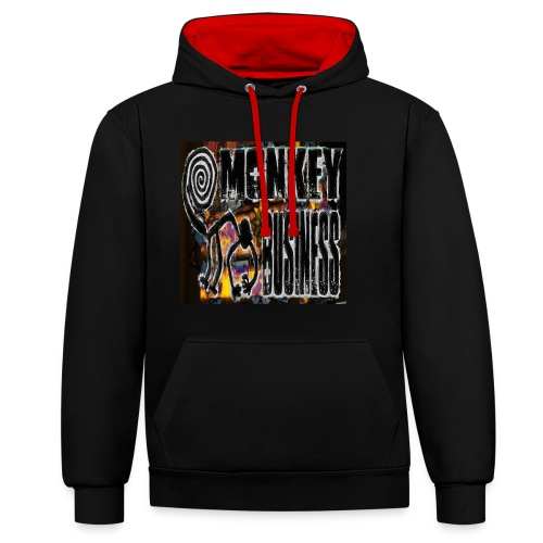 monkey business - Contrast Colour Hoodie