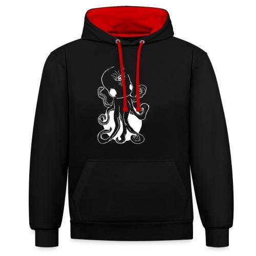 Alien octopus - Contrast Colour Hoodie