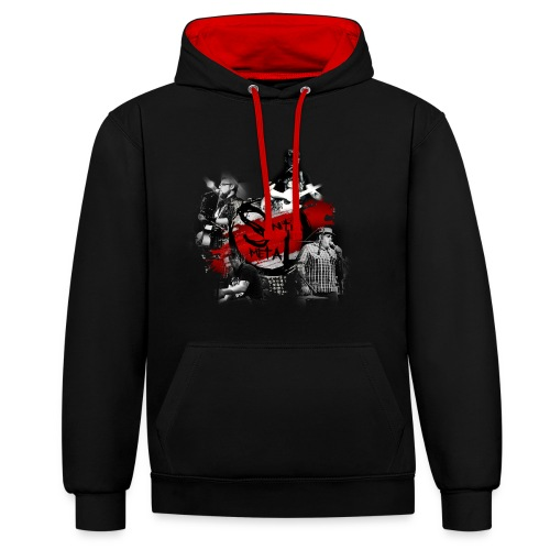 Senti-Metal Shirtdesign - Kontrast-Hoodie