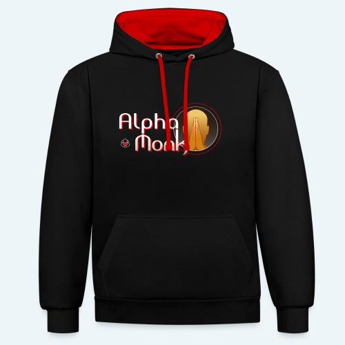 Alpha Monk - Kontrast-Hoodie