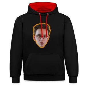 T-shirt met ginger hoofd op - Contrast hoodie