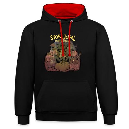 T-shirt Stor- Jobal från Krokjala - Contrast Colour Hoodie