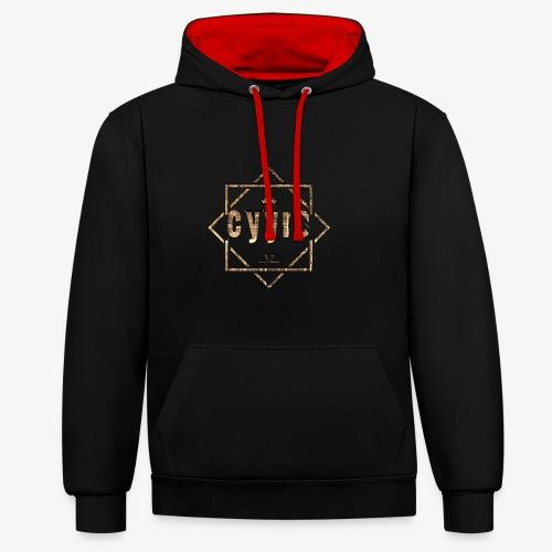 Cyyro Official Logo GOLD - Kontrast-Hoodie