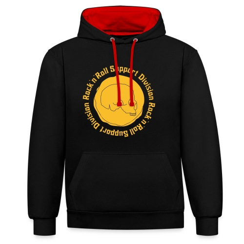 Limitierte Edition: ROCK AND ROLL SUPPORT DIVISION - Kontrast-Hoodie