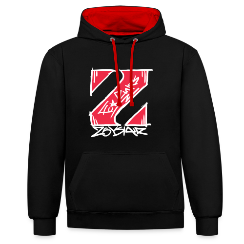 Limited Edition | Fck Rules / Zoysiar Kooperation - Kontrast-Hoodie