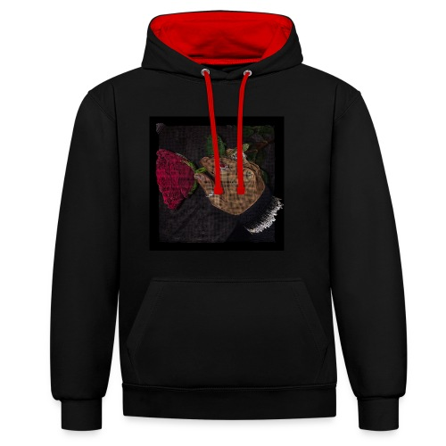 ROSES - Contrast Colour Hoodie