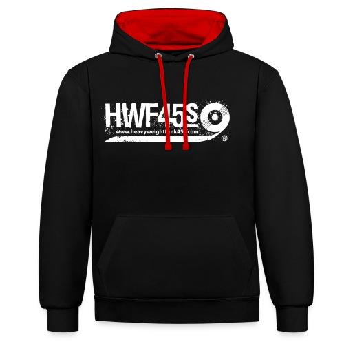 HWF45S Retro Logo Weiss - Contrast Colour Hoodie
