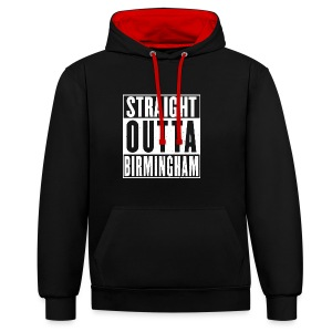 Straight Outta Birmingham - Contrast Colour Hoodie