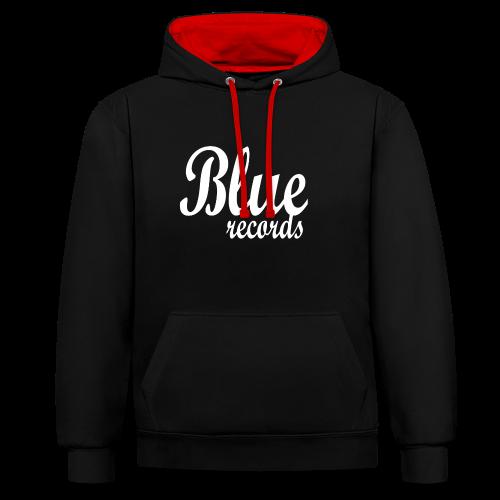 Blue Records - Contrast Colour Hoodie