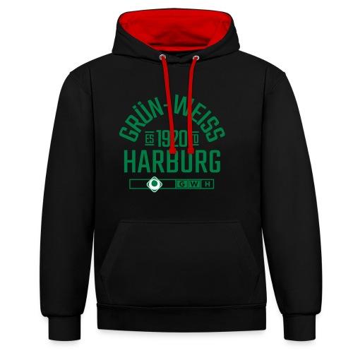 SV Grün-Weiss Harburg estd. - Kontrast-Hoodie