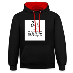 Bad and bougie Black - Sweat-shirt contraste