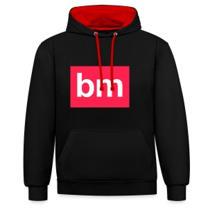 bm - bad monkeys! - Kontrast-Hoodie