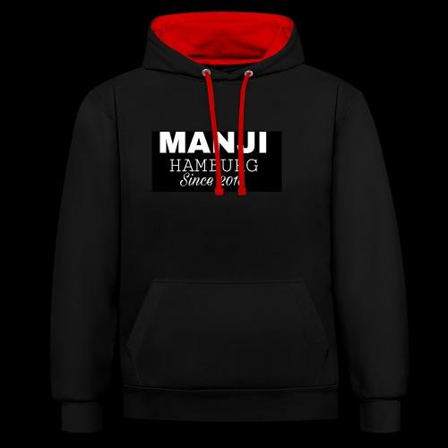 MANJI BLACK KOLLEKTION 2017 - Kontrast-Hoodie