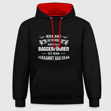 Männer-T-Shirt Beruf Baggerführer - Kontrast-Hoodie