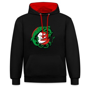 Hungary Dragon - Contrast Colour Hoodie