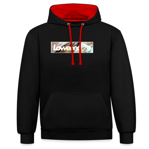 Loweredunit. Reflection - Kontrast-Hoodie