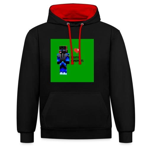 Adoro Lasata gameplays - Sudadera con capucha en contraste