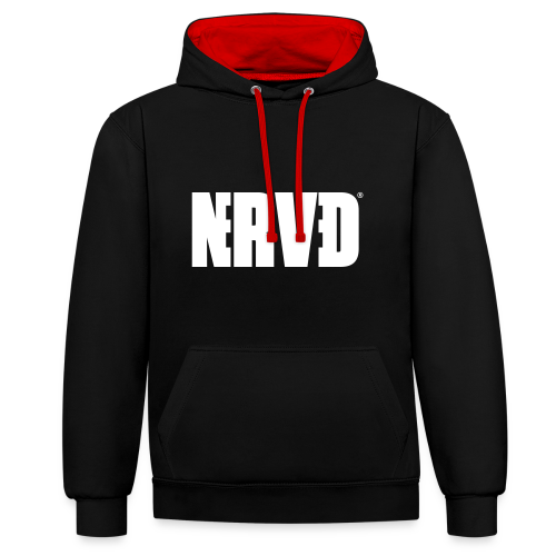 Official Nerved@ White Logotype - Contrast Colour Hoodie