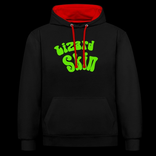Classic Green logo - Contrast Colour Hoodie
