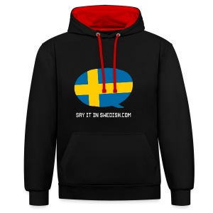 Say It In Swedish - Contrast Colour Hoodie