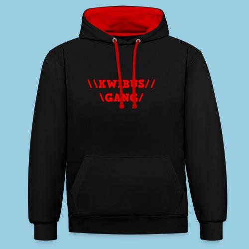 KWIBUS GANG RED EDITION - Contrast hoodie