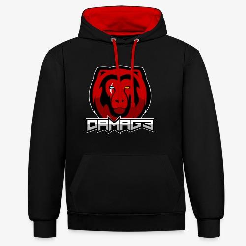Damag3 Logo - Contrast Colour Hoodie