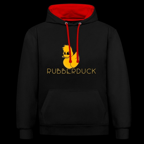 Rubberduck Ente - Kontrast-Hoodie
