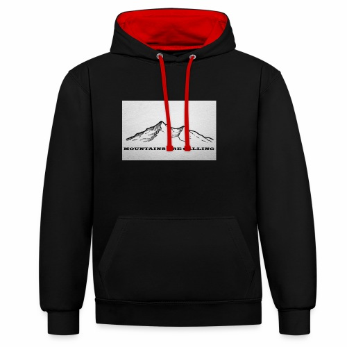 Mountains are calling - Kontrast-Hoodie