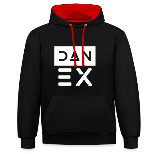 Dan Ex Logo (Big) - Kontrast-Hoodie