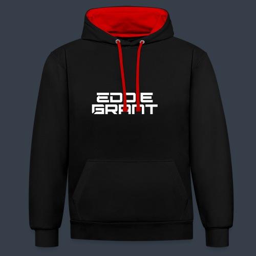 Eddie Grant White Logo - Contrast hoodie