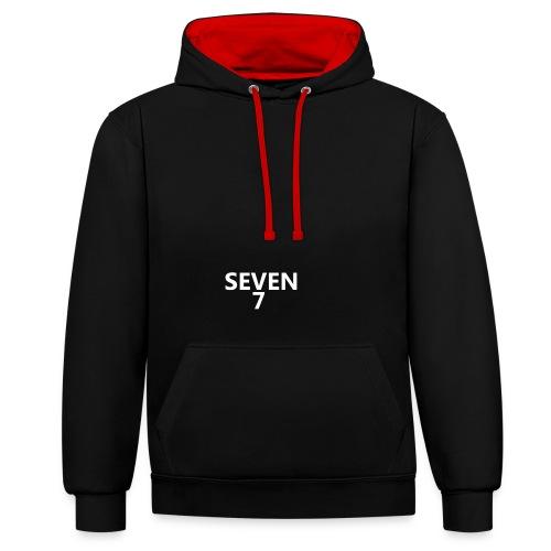 seven_7 - Kontrast-hættetrøje