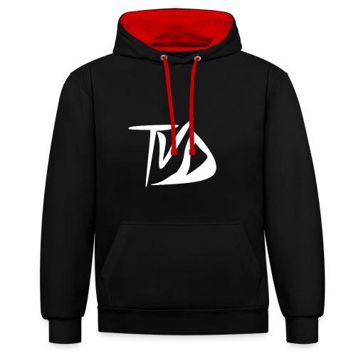 T-Shirt TvD / Black - Contrast hoodie
