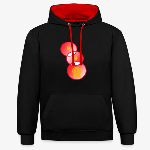 BE NUMBER 1 - Contrast Colour Hoodie