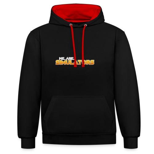 we are simulators tshirt logo - Contrast Colour Hoodie